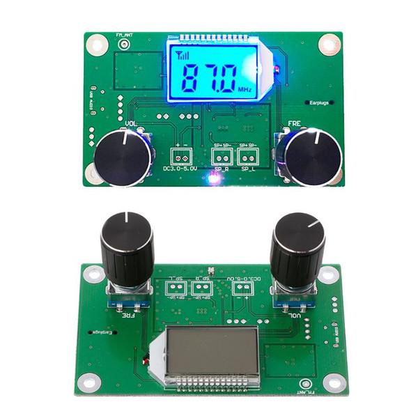 Digital FM 87-108MHz DSPPLL Módulo de receptor de radio estéreo LCD + Soporte de control en serie 30 Rango Ajuste de volumen digital Hot-m3