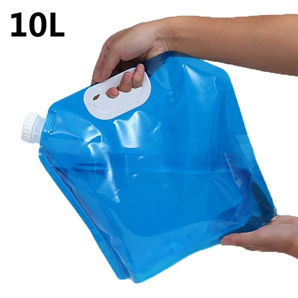 top popular 10L Outdoor Collapsible Foldable Drinking Water Bag Car Water Carrier Container 2019