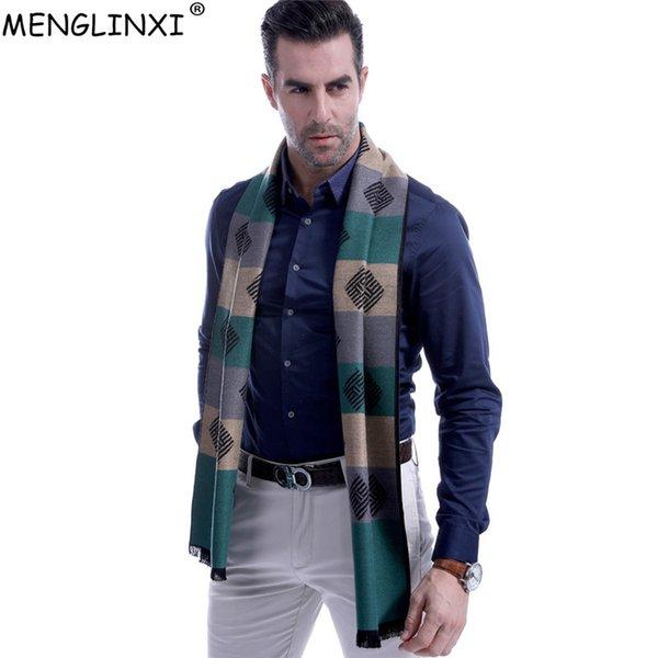 Fashion Square Strpied Sciarpa da uomo Sciarpe calde invernali di marca Sciarpa autunnale Anno nuovo Miglior regalo di Natale Sciarpe casual da uomo