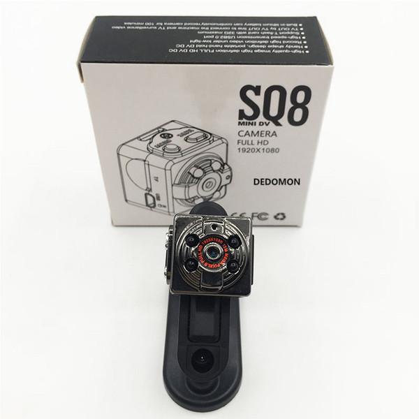 Güvenlik Gözetim Taşınabilir Mini Kamera SQ8 HD 1080 P Spor Mini DV DVR Hareket Algılama Kamera IR Gece Görüş Dijital Küçük kamera