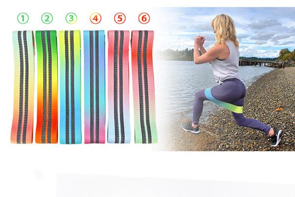 6 cor / saco de hip banda de resistência do quadril anel hip anel de rali deslizamento rali rosto alongamento ginásio força treinamento frete grátis