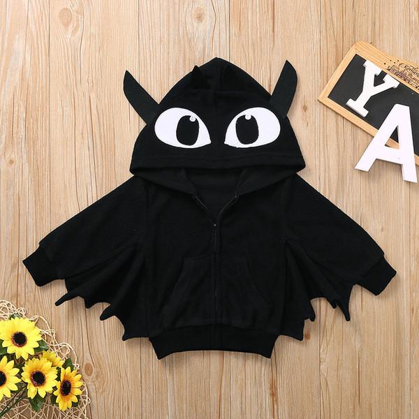 2019 Nouveau Halloween Vestes bébé tout-petits enfants Garçons Filles Halloween manteau Cartoon veste à capuche chaud Manteau jaquetas infantil @ 40