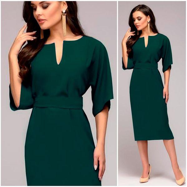 Autumn Dress 2018 Women Casual Elegant Office Dresses Female Sexy V-Neck Knee-Length Burgundy Dress