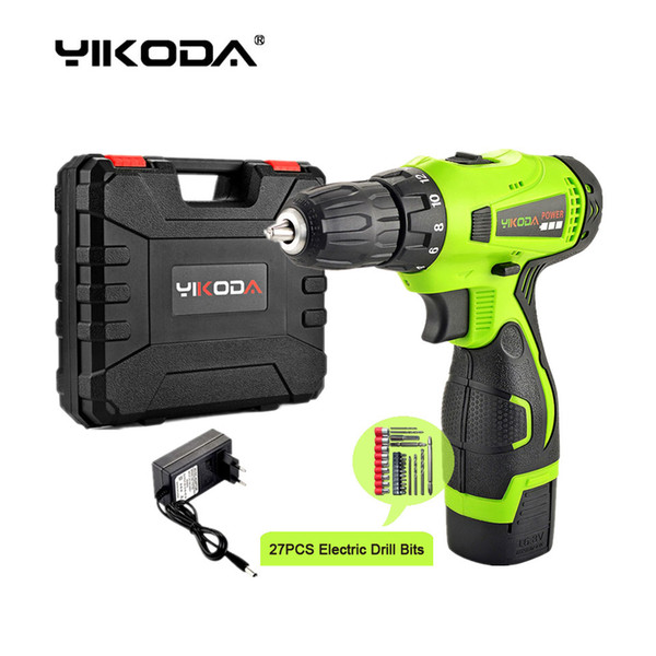 best selling 16.8V Cordless Drill Electric Screwdriver One Lithium Battery Household Decoration Tool Multi-function Plastic Case Plus Accessories