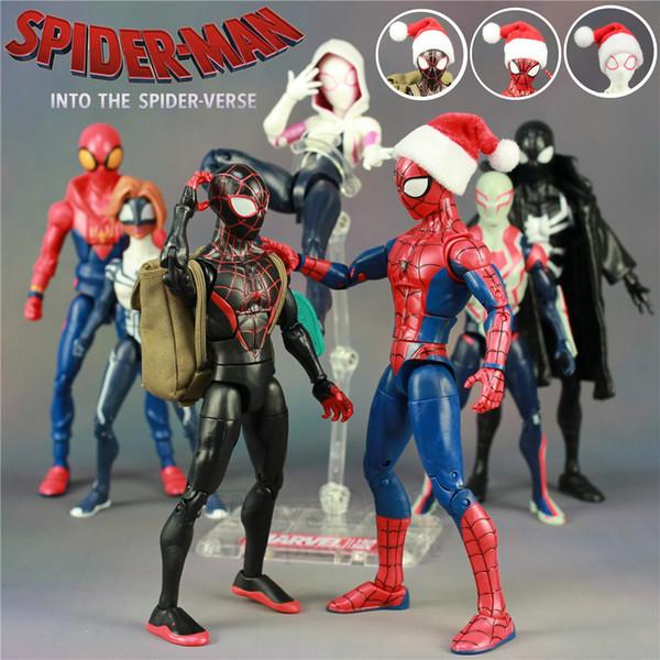 Marvel 2018 Spiderman Into The Spider Verso Dos Desenhos Animados Filme 6