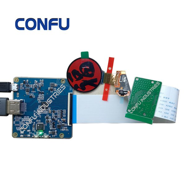 Конфу Hdmi для Mipi DSI драйвер платы для AUO H139BLN01.2 OLED 1,39 дюйма 400 * 400 круглый дисплей AR VR носимых часов Diy Китай