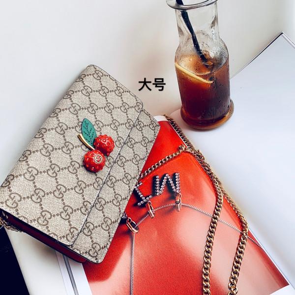 nueva bolsa llena impresa letra impresa cereza decorativa bolsos chica llena de gran capacidad whatsyan02 bolsa de mensajero size20cm
