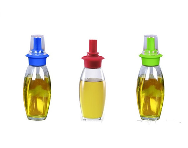 Green High Temperature Resistance Oil Bottle Outdoors Barbecue Camp Kitchen Silicone High Hardness Anti Wear Portable Hot Sale 6kxI1