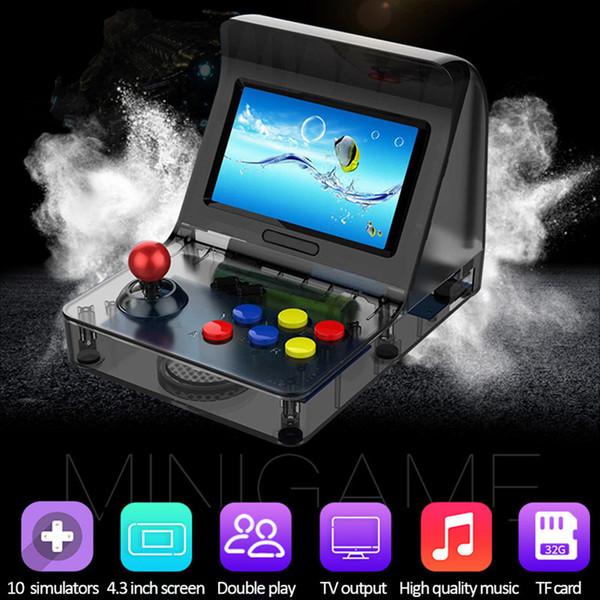 Consoles de jeu classiques Jeu intégré Lecteur de jeu portable enfance TV Système d'exploitation AV-OUT 64BIT