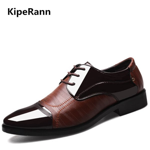 New Spring Fashion Oxford Business Men Shoes Leather High Quality Soft Casual Breathable Men Flat Shoes Dance Shoes