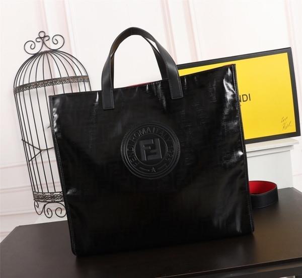 FEN 2019 nueva letra clásica para mujer bolso de compras bolso de cuero importado bolsa de tela para el tamaño de la moda: 38 * 42 * 15 cm
