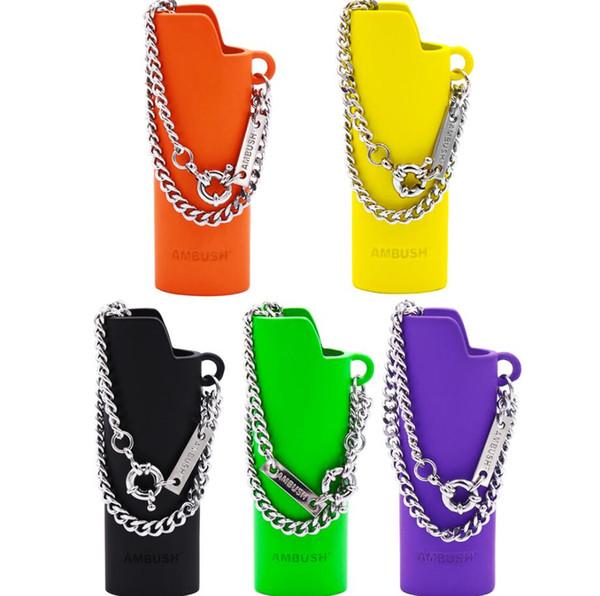 AMBUSH couleur cas plus léger collier pendentif en alliage hip hop collier bijoux cadeau boîte exquise