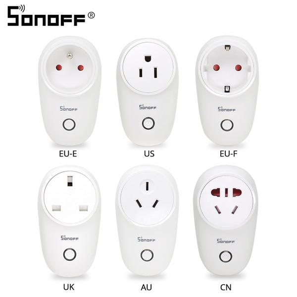 Sonoff S26 WiFi Smart Socket Plug US/UK/CN/AU/EU Wireless Power Sockets Smart Home Relay Switch Work With Alexa Google