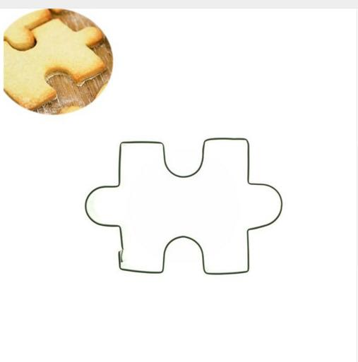 1Pcs/Set Eco-friendly Jigsaw Puzzle Shape Cookie Cutter Mold Cake Decorating Tools Fondant Mould Baking Tools 70 80 80