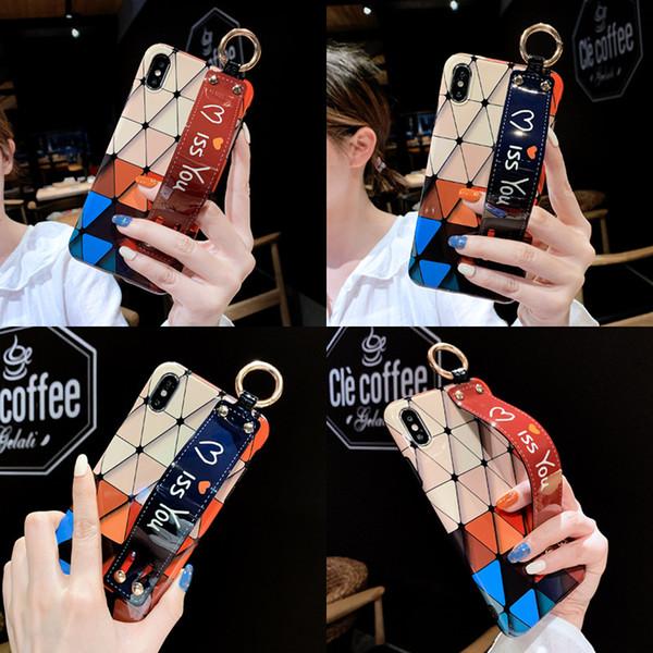 Designer phone case para iphone xs max xr x / xs 7 p / 8 p 7/8 6/6 s 6 p / 6 SPFashion case com pulseira de volta cobrir tudo incluído protetora atacado