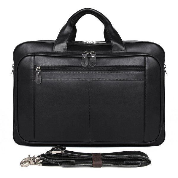 High Quality Cowhide Male Commercial Briefcase Real Leather Vintage Men's Messenger Bag Casual Cowskin Business Bag For Man