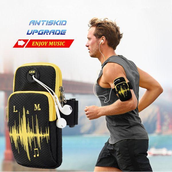 Waterproof Running Bag Phone Case Cover Sport Armband Wrist Bag For Men Women Cycling Hiking Fitness Jogging Trekking Run #273475