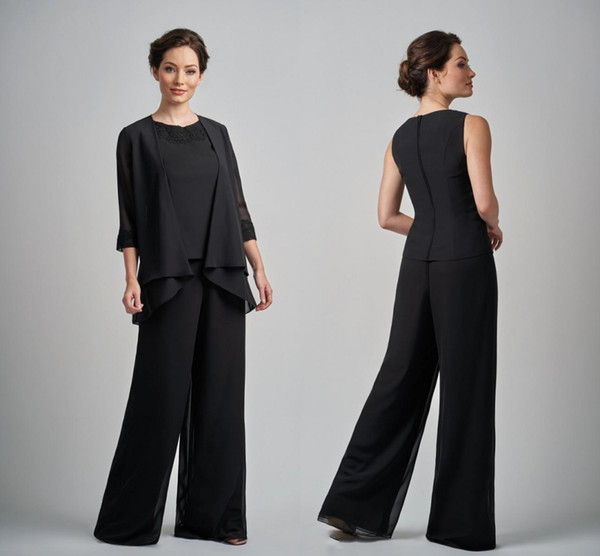Plus Size Pantsuits Mother Of The Bride Dresses Outfit 3 Pieces Garment Dress Evening Wear Custom Plus Size Pant Suits For Wedding DH6277