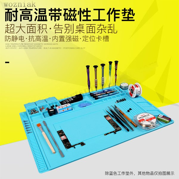 top popular S-160 radio magnetic high temperature resistant silicone antistatic mat rubber gasket mobile computer repair insulation pad 2020
