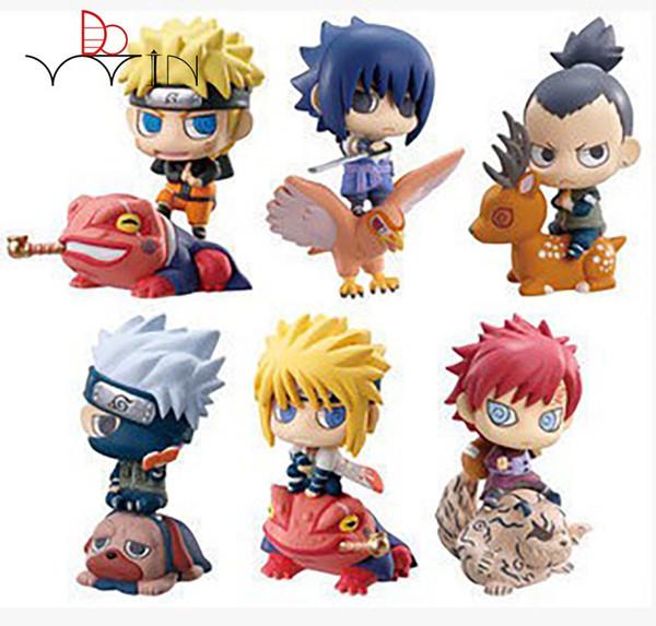 6psc/set Naruto Figure Gaara with Summon Kakashi Figurine Hot Toys PVC Free Shipping Action Figure