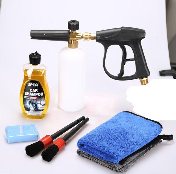 Alta pressão de espuma de neve canhão de espuma de lança adaptador de conversão de rosca M22 5 lavagem de pressão bicos de limpeza de luvas