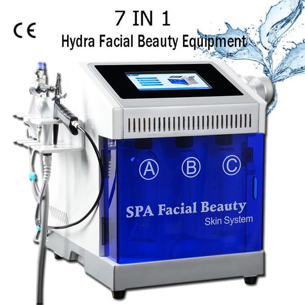 2019 mais novo Máquinas de Microdermoabrasão Máquina Hidráulica Pro Ultrasound dispositivo facial spa Água Dermoabrasão Hydra Tratamento Facial