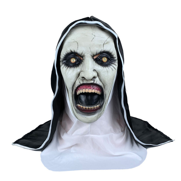 The Conjuring 2 Nun Halloween Costumes masques d'halloween Movie Halloween Mask Cosplay Horror Female Ghost Mask Tricky Headgear