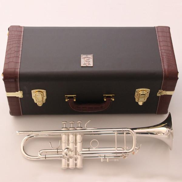 Vincent Shrotenbach Stradivarius Professional Bb Trumpets AB-190S Silver Plated Trumpet Mouthpiece Accessories Case