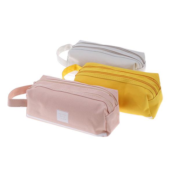 Creative Double Zipper Large Pencil Case Kawaii School Pencilcase Big Pen Box For Girls Gifts Cute Stationery Supplies Bag