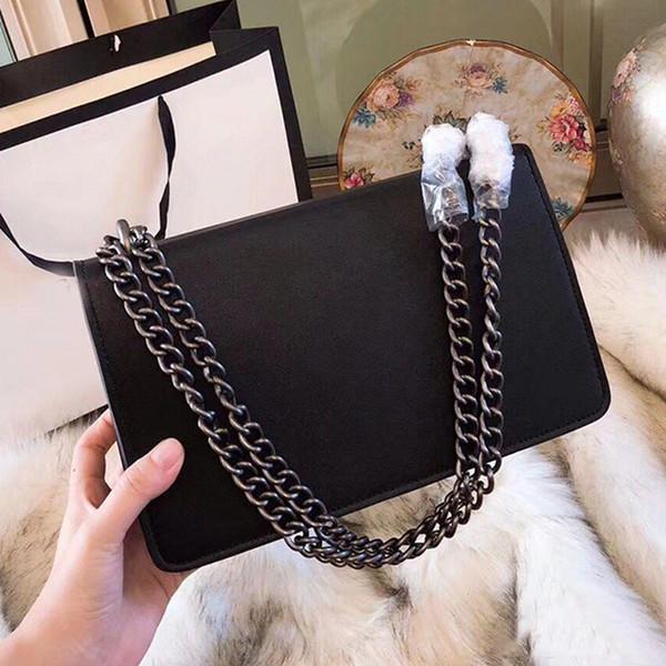 Bolsos de calidad bolsos de las mujeres famosas Marmont hombro bolsas de mensajero bolsos de cuero de moda diseñador cadena bolso 2018