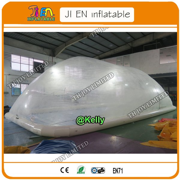 free shipping to door pool inflable tent for sale, pvc clear inflatable pool cover tent for outdoor, air tight inflatable tents