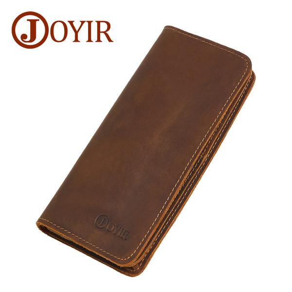 Joyir Men Genuine Leather Wallet Men Wallets Card Holder Vintage Long Male Clutch Coin Purse Portomonee Carteira Hombre Perse 43 Y19052104