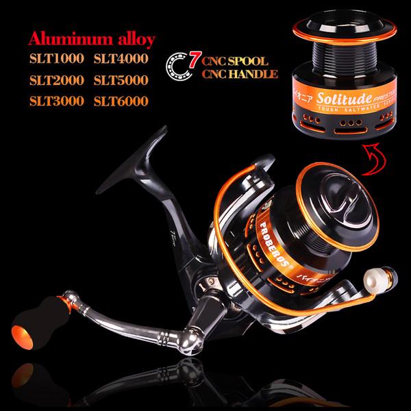 Mulinello da pesca in lega di alluminio 18KG Max Drag 1000-6000 Spinning 6 + 1BB con mulinello da pesca