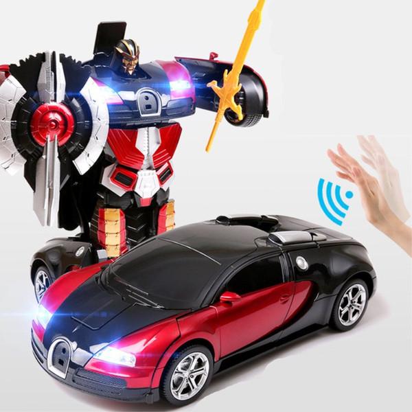 1:12 elektrische rc auto sport auto stoßfest transformation roboter spielzeug fernbedienung verformung auto rc roboter kinderspielzeug