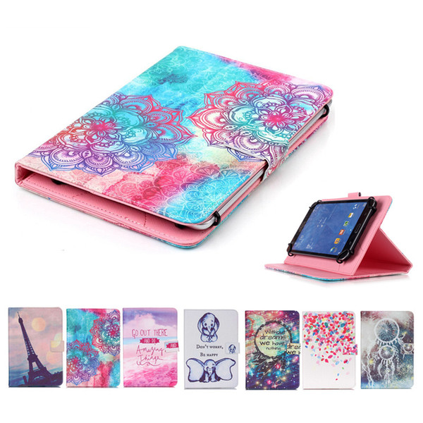 Cartoon Printed Universal 7 inch Tablet Case for Samsung Galaxy Tab 3 7.0 P3210 T210 P3200 Cases kickstand PU Flip Cover Cases