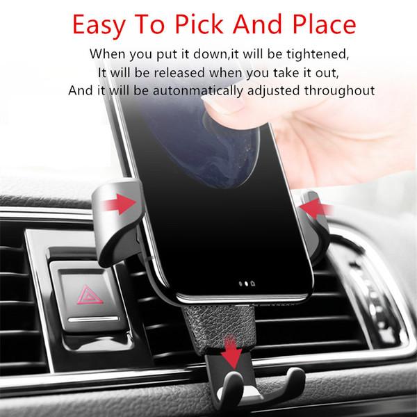 Araç Telefonu Tutucu Evrensel Hava Firar Dağı Araç Tutucular Standı Mobil IPhone Xs Max Xr için Destekler X Xiaomi Samsung Telefon Standı