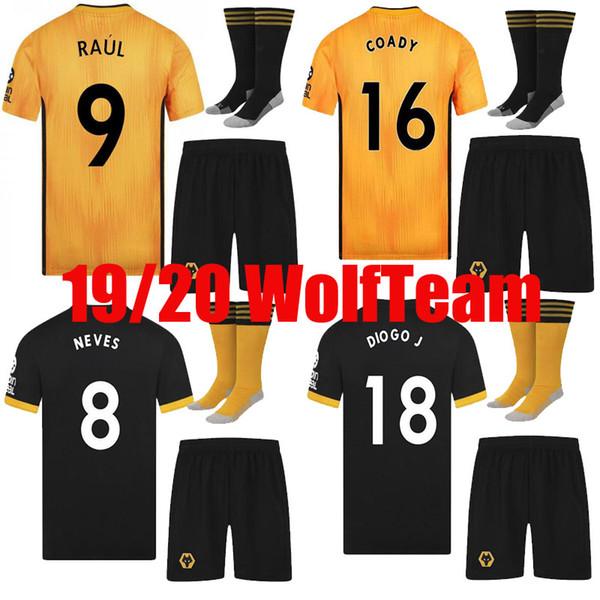 adult kit 2019 2020 Wolves thailand Wolverhampton Wanderers SOCCER JERSEYS DIOGO J. 18 JIMENEZ MOUTINHO 19 20 JERSEY PATRICIO FOOTBALL SHIRT
