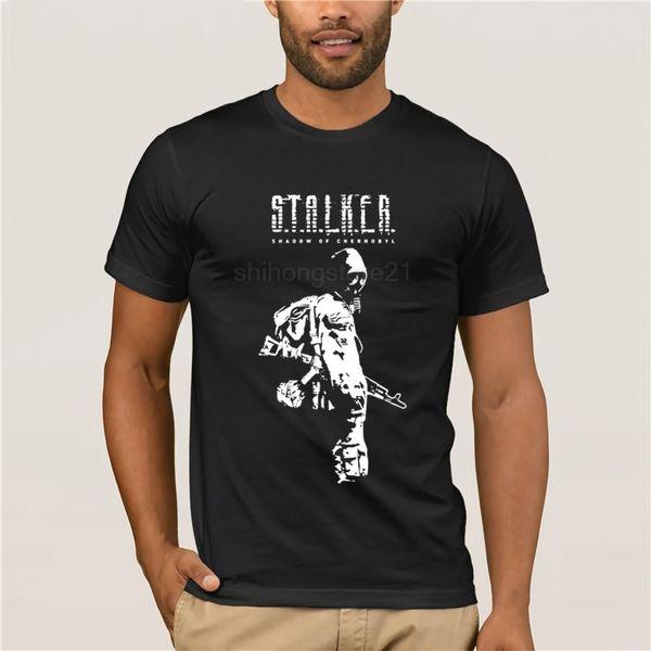Camisetas Stalker SOC Sombra Branca de Chernobyl Algodão Camisetas Relaxado  Fit Manga Curta Camisetas Homens Tripulação 6e5a8a095aacb