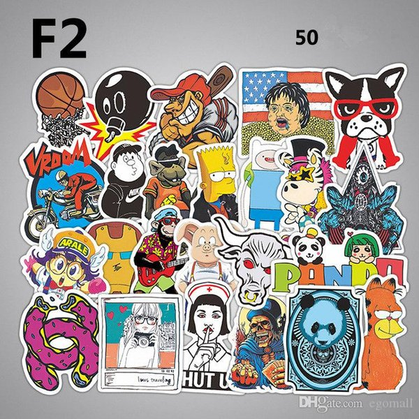 Waterproof Mixed DIY Motorcycle moto Bike Car Stickers Decal laptop luggage Skateboard Sticker car Styling Decal Sticker