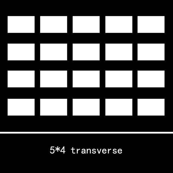 5x4 transverse A4 Size