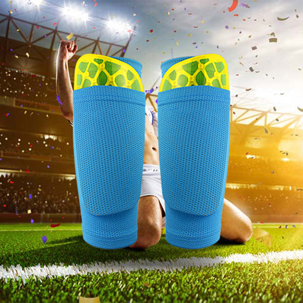 free shipping 1 Pair Soccer Protective Socks Shin Guard With Pocket For Football Shin Pads Leg Sleeves Supporting Support Sock
