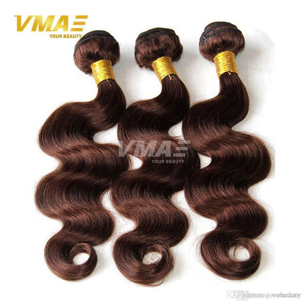 Good 100% Brazilian Virgin Human Hair Weaves 3pcs lot 4# Pure Color Natural Human Hair Bundles Cheap Brazilian Wavy Hair Hot Selling