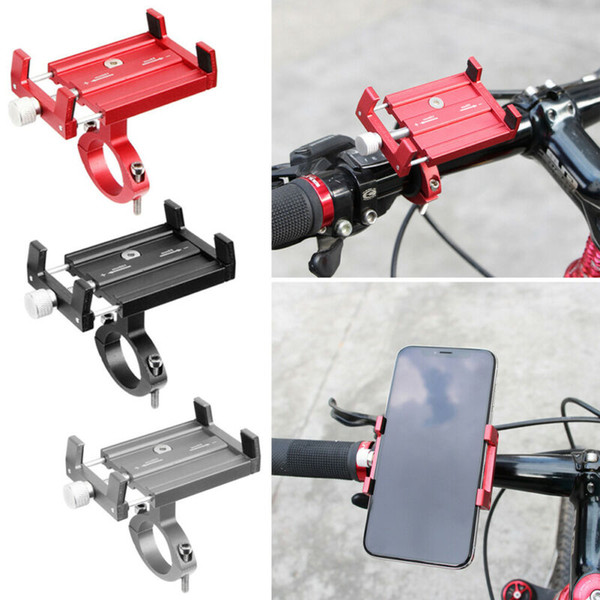 New Aluminum Motorcycle Bike Bicycle Holder Mount MTB Handlebar For Cell Phone Mount Handlebar For Cell Phone GPS