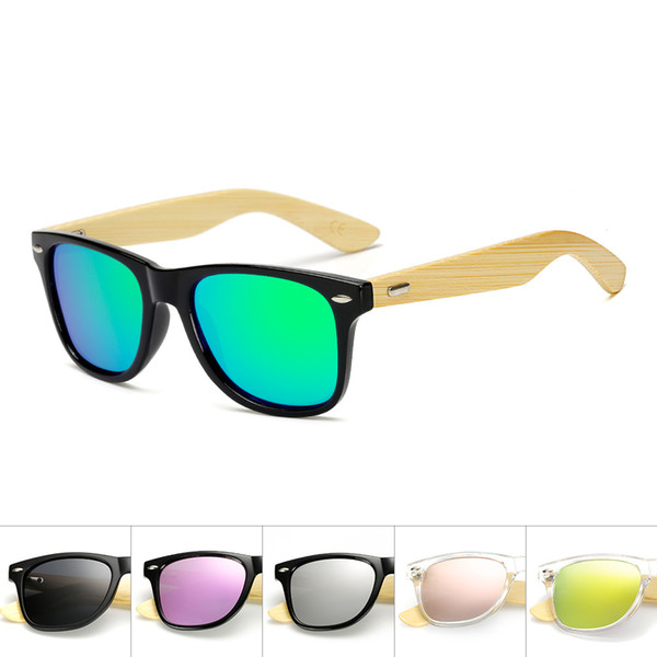 Gafas de sol polarizadas de madera Piernas de bambú Gafas de sol de moda Gafas de montar al aire libre Hombres y mujeres Gafas de sol 17 Color MMA1840