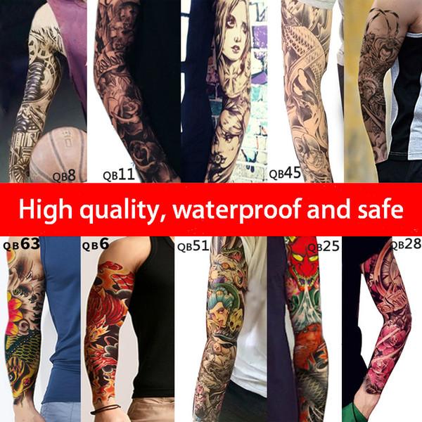 160 Estilos de mangas curtas Tatuagens Temporárias 3d À Prova D 'Água Etiqueta Do Tatuagem Festival personalidade adesivo de festa Body Art Braço tatuagem 48 * 17 cm