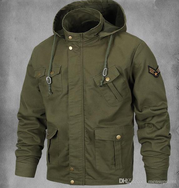 Acheter Hommes Taille Plus Armée Veste Style Militaire MA1 Bomber Cool Manteaux Veste De $42.31 Du Yinxiang666 | DHgate.Com