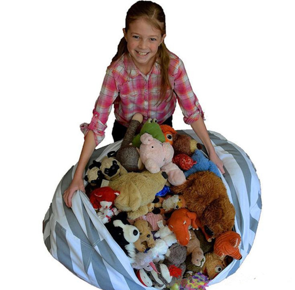 Storage Bean Bags Beanbag Chair Kids Bedroom Stuffed Animal Dolls Organizer Plush Toys Buggy Bags Baby Play Mat c339