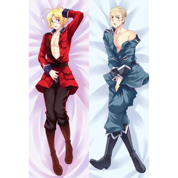 Male Japanese Cosplay Anime Axis Powers Hetalia Fujoshi Throw Otaku Dakimakura Gifts Bedding Hugging Body Pillow Case 150x50 CM