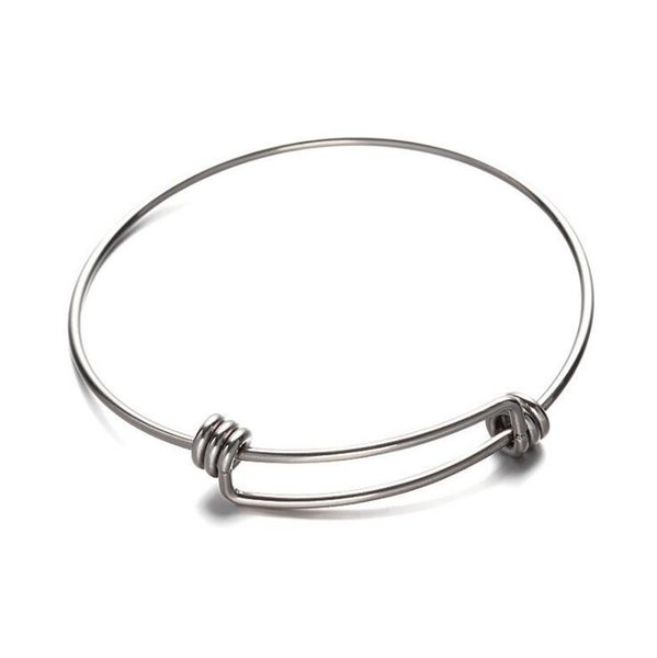 Tibetan Silver Handmade stainless steel Bangle Fashion Expandable Wire Bracelet 20pcs Men Friendship Bracelet For Woman Jewelry Accessorie