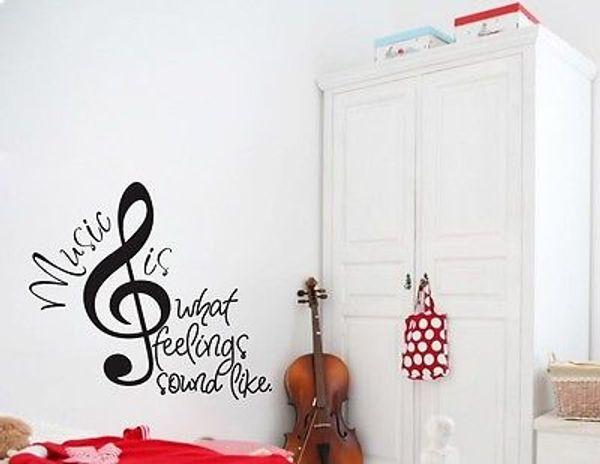 Marques de musique ce que les sentiments sonnent comme de vinyle Stickers muraux Sticker musique, décoration murale art musical